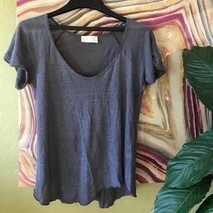Zara grey perfectly-imperfect tshirt (M)